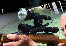 Rifle Mount Night Hunting Rechargeable LED Flashlight Kits