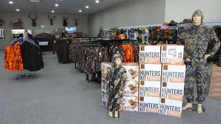 Inside Bairnsdale Firearms and Accessories store