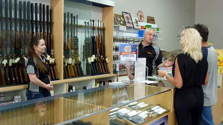Neil and Sharon Hutchinson. Bairnsdale Firearms