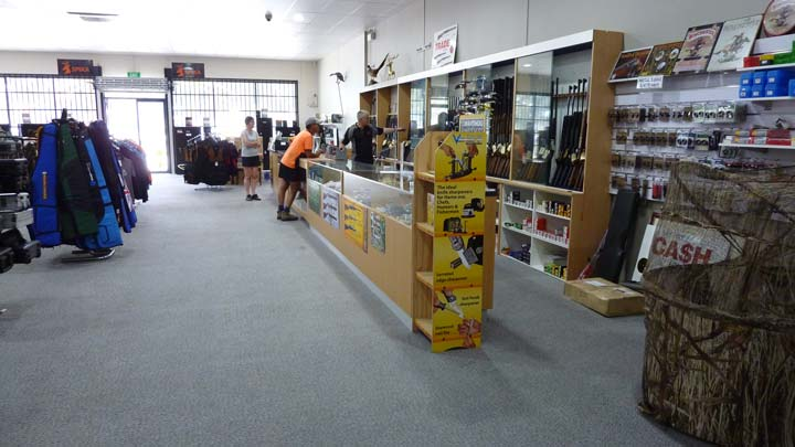 Bairnsdale Firearms Shop Counter